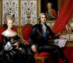 A rare portrait of Marie Antoinette and King Louis XVI.