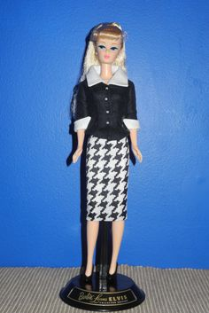 "Barbie Loves Elvis Doll wearing a suit that was custom made for me by Sylvia Bittner from the Etsy shop ""Hankie Chic."""