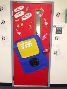 Red Ribbon Week Door Decoration & Red Ribbon Week Door Decoration | Classoom decoration | Pinterest ...