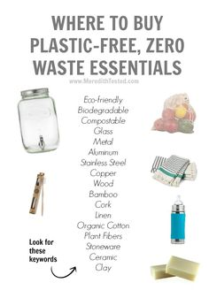 Where to buy plastic-free, zero-waste home goods Waste Reduction, Green Living Tips, No Waste, Reduce Waste, Reduce Reuse Recycle, Repurpose, Tips & Tricks, Eco Friendly House, Green Life