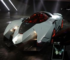 The Lamborghini Egoista - The Maddest bull Ever! Hit the pic to see this crazy Lambo from inside!SAID TO BE DESIGNED IN SPIRIT OF APACHE ATTACK HELICOPTER ???