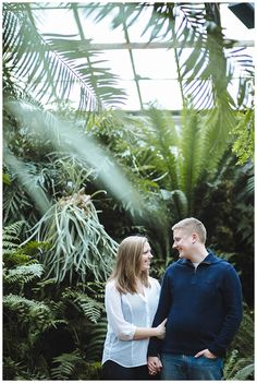 Lincoln Park Conservatory Engagement (and winter engagement)
