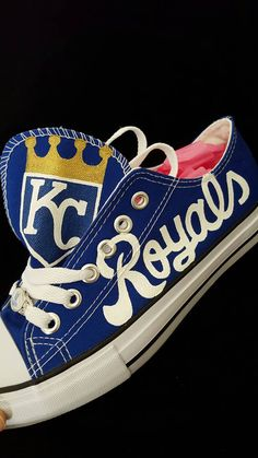kansas city royals fan shoes... by RubyRoseslippers on Etsy