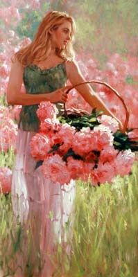 Richard Johnson Artist | Richard S. Johnson original called Peony Field - reminds me of one ...