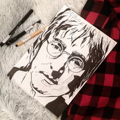 #JohnLennon #TheBeatles #art #sketch #scketching