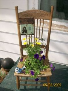 #repurposed #chair #planter