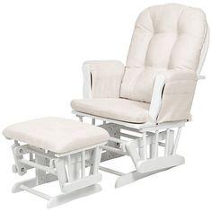 Buy Kub Haywood Glider Nursing Chair and Footstool, White Online at johnlewis.com