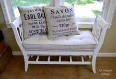 DIY Tufted French Mattress Cushion and Salvaged Bench - An Oregon Cottage