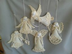 pl these are for purchase, but you could make your own similar angel of your own design