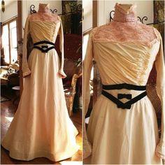 Antique-1890s-Vintage-Victorian-Silk-Springtime-Walking-Suit-dress-gown-wedding