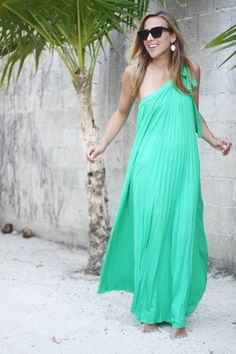 bcbg green dress