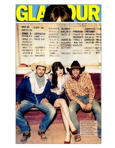 Zooey Deschanel in a Wacoal bra for a western chic spread in @Glamour Magazine, February 2013 issue.