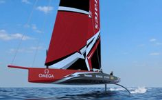 """The ground-breaking new America's Cup class race boat concept. The AC75 is the bold new high performance fully foiling monohull.""""Once foiling, the AC75 has the potential to be faster than an AC50 both upwind and downwind.""""["""