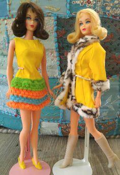 1969 Marlo Flip TNT Barbies / collection of Lynne Pelzek / www.modbarbies.com / #MarloFlipBarbie #vintagebarbie #modbarbie