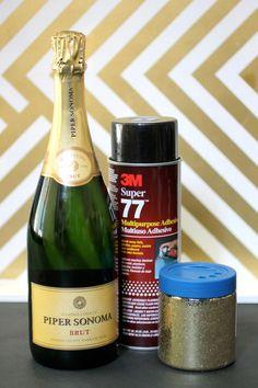 DIY Sparkly Bottle Materials