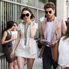Ulyana and Frol before Dior Couture show in Paris @ulyanasergeenko @frolburimskiy by ulyana_sergeenko_moscow