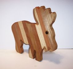 Moose Cheese Cutting Board Handcrafted from Mixed Hardwoods by tomroche on Etsy