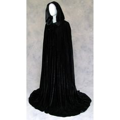 Lined Black Velvet Cloak - Volturi Vampire Cape Perhaps!