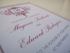 Silver Wedding Invitation - Paper goods by Le Petit Papier - www.lepetitpapierbymonica.com