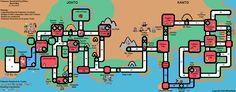 Pokémon SoulSilver/HeartGold Cities Map