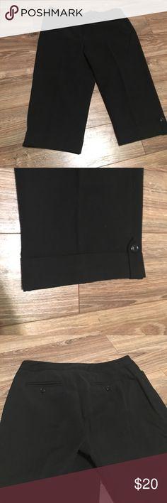 Nine West - Capri dress pants Capri dress pants with button cuff detail. Polyester/viscose blend. Nine West Pants