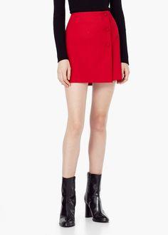 Spódnica z guzikami - Spódnice dla Kobieta | MANGO