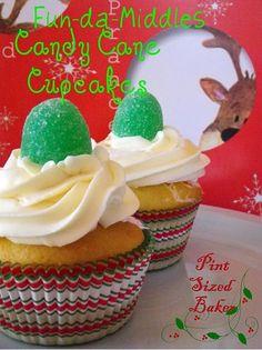 Fun-da-Middles Candy Cane Cupcakes   #candy #Cane #cupcakes #Fun-da-Middles