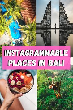 In this blogger's guide to Bali (Indonesia), I will share with you the most Instagrammable places in Bali, the most trendy island in Indonesia. Bali has been bloggers' paradise for quite a while now – it was trending for the last six years or even more. In this Instagram guide to Bali, I teamed up with amazing travel photographers and bloggers! #Bali #Travel Amazing Destinations, Travel Destinations, Travel Guides, Travel Tips, Travel Articles, Travel Deals, Bali With Kids, Bali Travel, Travel Images