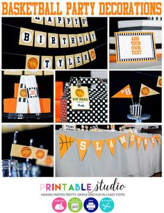 Basketball Party Decorations INSTANT by PrintableStudio505 on Etsy