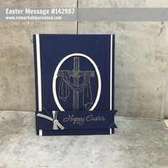 Happy Good Friday. Enjoy some Easter Message pretty card samples. #remarkablycreated