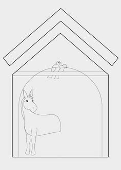 Gingerbread Nativity pattern and tutorial. Cookie Nativity Scene with Mary, Joseph and Baby Jesus in a stable Gingerbread House Designs, Christmas Gingerbread House, Gingerbread Houses, Christmas Holidays, Christmas Decorations, Christmas Foods, Christmas Ideas, Ginger House, Doll House Plans