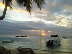 Sunset at Merville Beach Resort in Mauritius. Beach Hotels, Beach Resorts, Secluded Beach, Mauritius, Niagara Falls, Places Ive Been, Paradise, The Incredibles, Ocean
