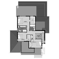 Plab c-127 Evolution Architecture, Plans Architecture, Concept Architecture, Dream House Plans, House Floor Plans, Garage Double, Construction, Townhouse, Sweet Home