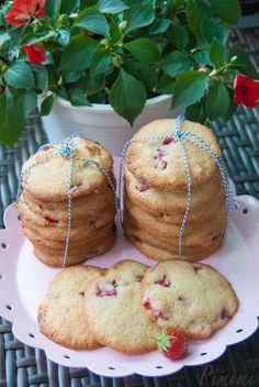 fruchtige Leckerei  Erdbeer-Cookies