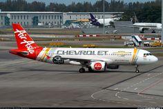 """AirAsia """"Chevrolet"""" Airbus A320-216 @ SIN"""