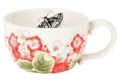 Hydrangea Cappuccino Mug