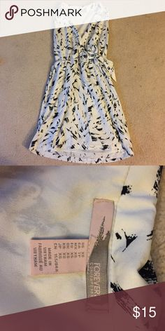 CLOSEOUT!!⭐️ Black and white Dress Sleeveless black and white brush stroke design dress with singed waist and faux side tie. No trades 🚫 will mail same or next day ✉️ 15% off bundles ✨ Forever 21 Dresses