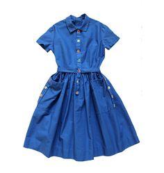 VINTAGE 50/60's / enfant / robe tablier / par Prettytidyvintage