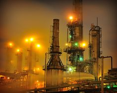 Refinery in Commerce City, CO on a cold December night. Commerce City, Oil Refinery, Scenery Photography, Industrial, Night, Welding, December, Environment
