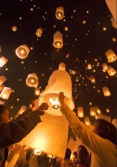 Bell Lanterns, Chiang Mai, Thailand  photo via thingssheloves