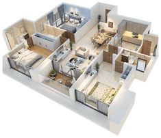 Experience world class comforts at Bluegrass Residences. Floor plans for & homes in Pune. Model House Plan, Sims House Plans, House Layout Plans, House Layouts, Small House Plans, House Floor Plans, Sims House Design, Small House Design, Cool House Designs