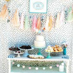 Desserts Bar Inspiration: | Pastels + Polka Dots + Desserts!