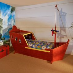 ... Pirate ship bed on Pinterest  Pirate ship bed, Pirate bedroom and