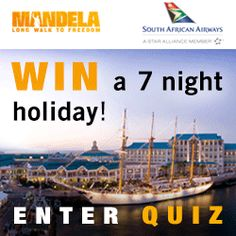 Fancy winning a 7 night holiday for 2 in South Africa?  Then take South African Airways  #walktofreedomquiz now!