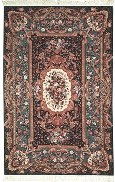 This beautiful Handmade Knotted Rectangular rug is approximately 5 x 8 New Contemporary area rug from our large collection of handmade area rugs with European Aubussan style from China with Wool