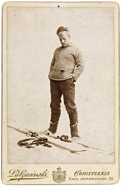 Our hero here at Vintage Ski, Fridtjof Nansen, photographed once again by Ludwik Szacinski in Christiania, AKA Oslo, Norway in 1889. For you trainspotter Norwegians, the street address was Carl Johansgade 20 where the photo was taken. If someone wants to find the address, take a photo of the place and email it to me, be my guest. This photo was taken in 1889. Two big events transpired that year for Nansen, 28 years old at the time - he returned from a lengthy expedition to Greenland and he…
