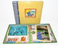 A personal favorite from my Etsy shop https://www.etsy.com/listing/237354751/vacation-scrapbook-album-summer #vacationscrapbook