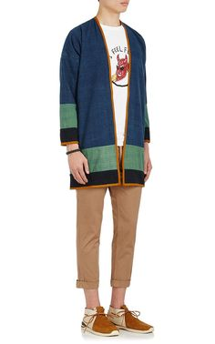 Male Kimono, Kimono Coat, Minimal Dress, Color Blocking Outfits, Cool Outfits, Casual Outfits, Kimono Design, Cotton Kimono, Outfits Hombre