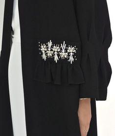 Alnuqi - Hand Made Custom design Abaya , Hijab and Dresses Abaya Fashion, Muslim Fashion, Modest Fashion, Fashion Dresses, Couture Embroidery, Embroidery Fashion, Modern Abaya, Motifs Perler, Hijab Trends