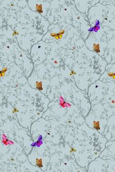 Timorous Beasties Wallcoverings - Butterflies